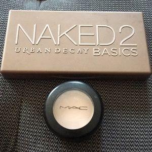 Urban Decay Naked 2 Basics & MAC Vanilla eyeshadow